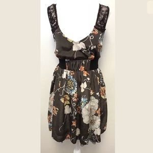Anthropologie Free People Dress Floral Lace Zip